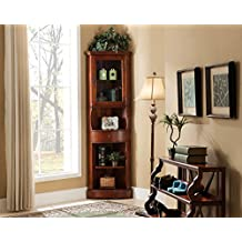Classic Accent Furniture - Corner Curio Cabinet