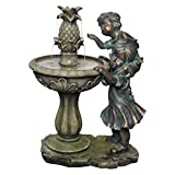 Alpine 27-Inch Boy and Girl Fountain