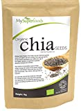 Organic Chia Seeds (1 Kilogram / 2.2 Lbs) | MySuperFoods | Bursting with Nutrients | High in Fatty Acids | Certified Organic | Tiny But Powerful | Great Option for a Healthy Diet For Sale