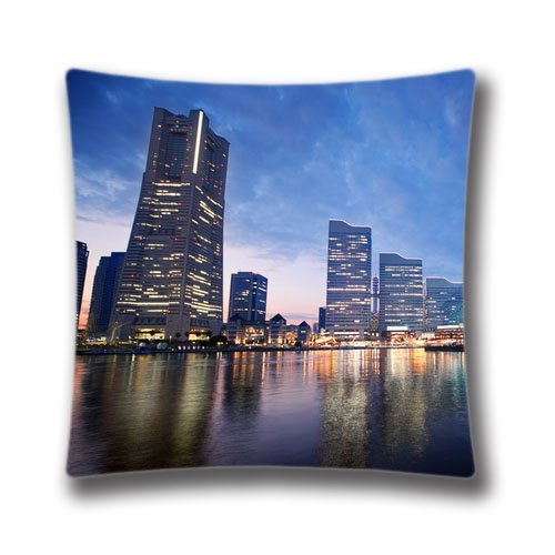Splendid Spring Pillowcase 18X18 inch twin sides Japan Pattern Pillow Cover Cases,Art7188 (Splendid Feather)
