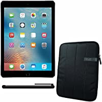APPLE 9.7-inch iPad Pro Wi-Fi 128GB - Space Grey MLMV2CL/A + 10.1 Padded Case For Tablet + Universal Stylus for Tablets Bundle