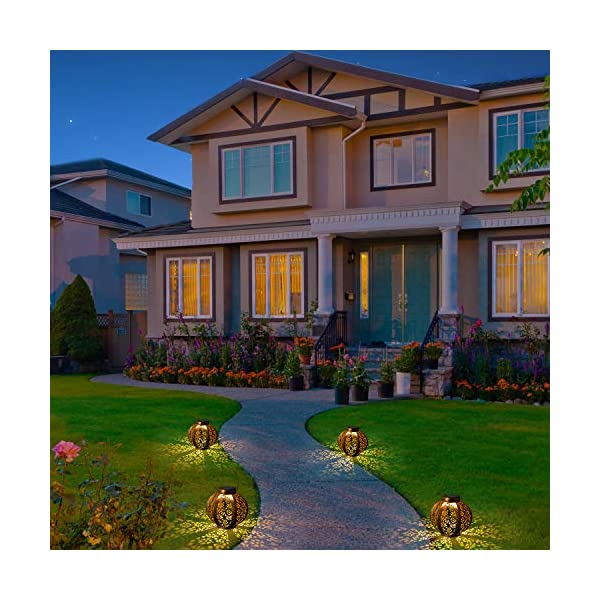 51DzHgdlBrL 2 Stück Solar Laterne für Außen,OxyLED IP44 Wasserdicht Dekorativ Solar Gartenleuchte,Solarlampe Outdoor Dekorationen…