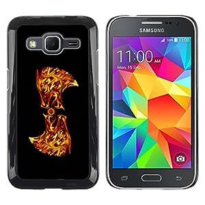 Paccase / SLIM PC / Aliminium Casa Carcasa Funda Case Cover para - Flaming Abstract - Samsung Galaxy Core Prime SM-G360