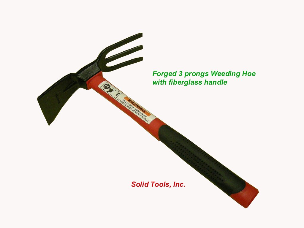 Forgecraft USA Adze Hoe with Fork, Dual Headed Weeding Tool