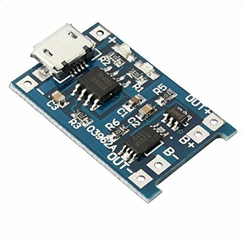 CAOLATOR 5V/1A Micro USB 18650mA batería de Litio Módulo de ...