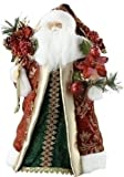 "Roman 18"" Tall Santa with Floral Tree Topper"