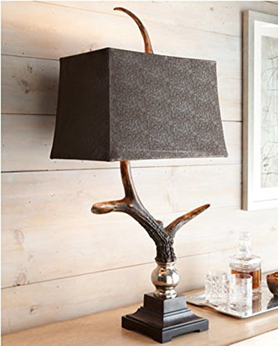 Luxe Masculine RUSTIC ANTLER TABLE LAMP Eco Friendly