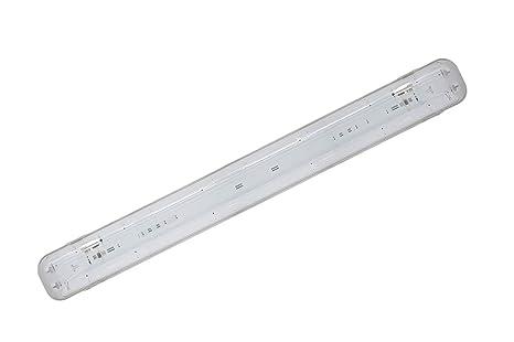 Plafoniere Per Neon A Led : Plafoniera stagna attacco doppio led neon t cm esterno