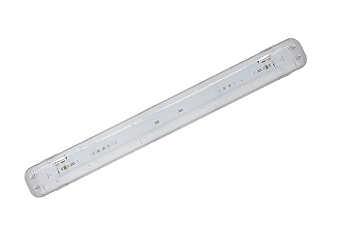 Plafoniera Led 150 Cm Prezzo : Plafoniera stagna attacco doppio led neon t cm esterno