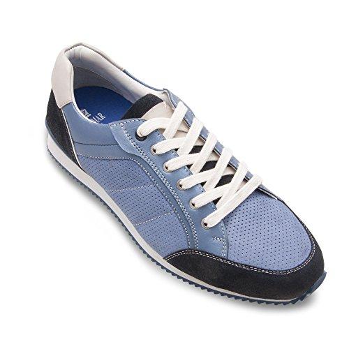 Zerimar En Couleur Cuir Pour Confort Chaussures Bleu Homme 46 ww1fAqEB