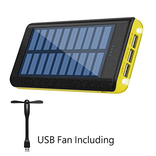 Samsung iPod iClever Solar Charger Android phones iPad IP67 Waterproof Solar Charger for iPhone 10000mAh Portable Solar Power Bank Dual USB Port Charger Battery with Led Light