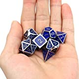 Haxtec Heat Sensitive Metal DND Dice Set Color