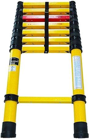 Escalera extensible Escalera telescópica Escalera telescópica de fibra de vidrio - Extensión telescópica Extender la escalera multiusos plegable portátil para exteriores, carga 150 kg (Size : 3M) : Amazon.es: Hogar