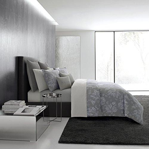 Vera Wang Transparent Leaves Bedding, King, Medium - Vera Comforter