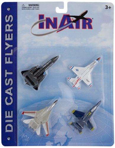 InAir Die Cast Modern Jet Fighter 4 Piece Set