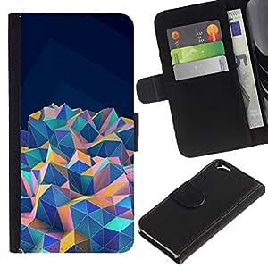 Billetera de Cuero Caso Titular de la tarjeta Carcasa Funda para Apple Iphone 6 4.7 / Blue Teal Purple Pink Orange / STRONG