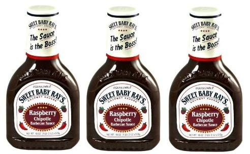 (Sweet Baby Ray's, BBQ Sauces, 18-Ounce Bottle (Pack of 3) (Raspberry)