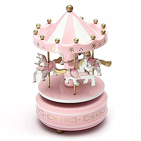 Kids Carousel Music Box Merry Go Round Musical Devolopment Toys Room Decor - Case Front End Loaders