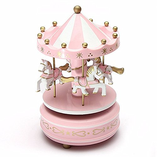 Kids Carousel Music Box Merry Go Round Musical Devolopment Toys Room Decor (Jake And The Neverland Pirates Sleeping Bag)