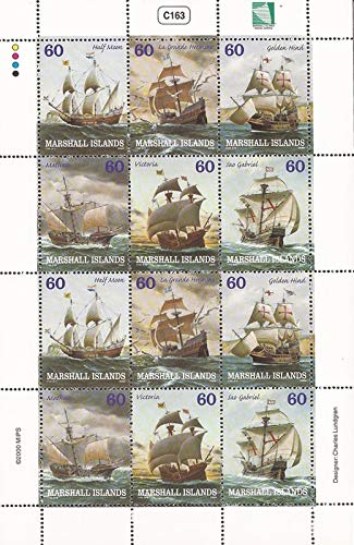 Marshall Islands - 2000 Tall Sailing Ships - 12 Stamp Sheet - Scott #749