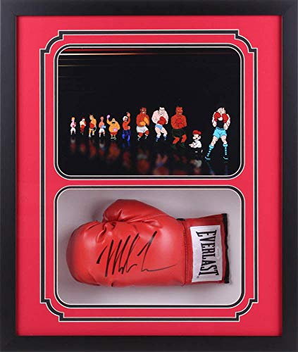 Mike Tyson Signed Autographed Glove Shadow Box Frame Authen PO Characters R - JSA Certified - Autographed Boxing Gloves