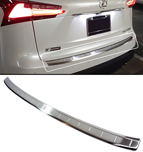 FOR:2015-2017 LEXUS NX200t NX300h BRUSHED STEEL REAR BUMPER TAILGATE TRIM PROTECTOR COVER GUARD