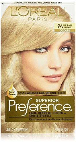 L'Oréal Paris Superior Preference Permanent Hair Color, 9A Light Ash Blonde