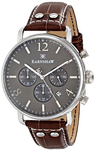 Thomas Earnshaw Men's ES-8001-04 Investigator Analog Display Japanese Quartz Brown Watch