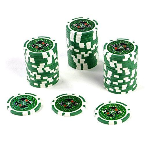 50 Poker Chips Wert 25 11 g für Pokerkoffer