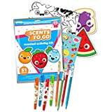 Scents To Go Smencils Kit - 51 pieces - Scented Color Pencils, Gel Crayons, Scratch & Sniff Stickers w/ Coloring Sheets