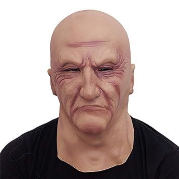 96b04f05153eda RZ Réaliste Latex Vieil Homme Masque Masque Déguisement Halloween Fantaisie  Tête en Caoutchouc Adulte Partie Masques