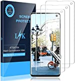 LK [3 Pack] Screen Protector for Samsung Galaxy S10, [New Version][Ultrasonic Fingerprint Compatible] [Flexible Film] HD Clear, Anti-Scratch, Bubble Free