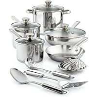 13-Pc. Tools of the Trade Stainless Cookware Set