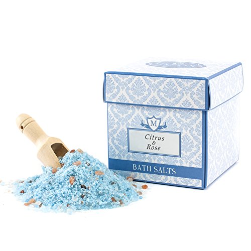 Mystix London | Citrus & Rose Scented Bath Salt - 350g Dendritic Salt