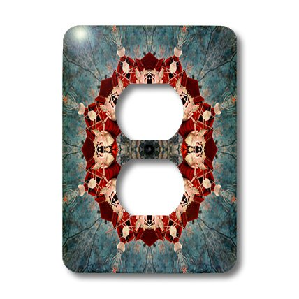 3dRose lsp_42045_6 Ruby Decorative Ring Gift Mandala - 2 Plug Outlet ()