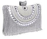 Clutch Diamonds Beaded Metal Evening Bags Chain Shoulder Messenger Purse Evening Wedding Bag