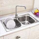 Modern Kitchen Sink Stainless Steel 32 Inch Silver 18 Guage