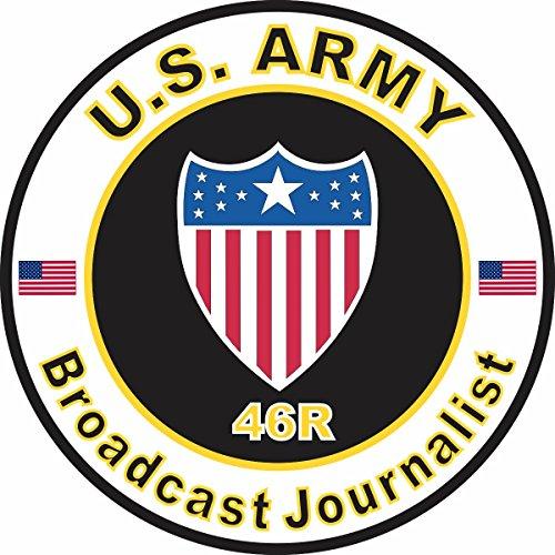 Military Vet Shop U.S. Army MOS 46R Broadcasting Journalist Window Bumper Sticker Decal 3.8