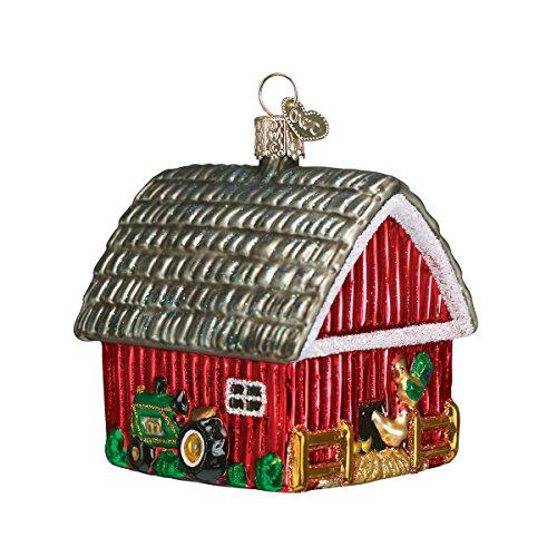 Cow Christmas Ornaments - Old World Christmas Ornaments: Barn Glass