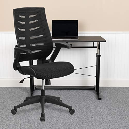 EMMA OLIVER High Back Black Mesh Swivel Ergonomic Office Chair