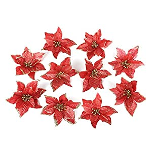 Silk Poinsettia Flowers