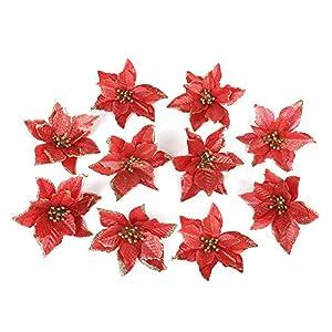 Silk Poinsettia Flowers