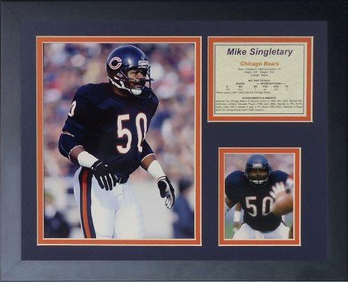 Legenden Sterben Nie Mike Singletary gerahmtes Foto Collage, 11 x 35,6 cm von Legends Never Die