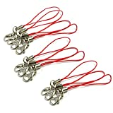 TOOGOO(R) 10pcs Red Mobile Cell Phone cords Strap Lariat Lanyard Lobster Clasp