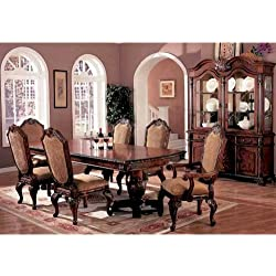 7pc Traditional European Style Dining Table & Chairs Set