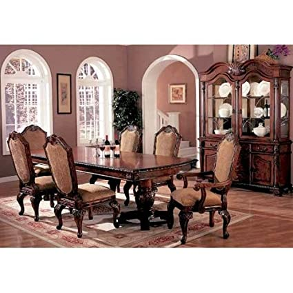 Amazon.com - 7pc Traditional European Style Dining Table & Chairs ...