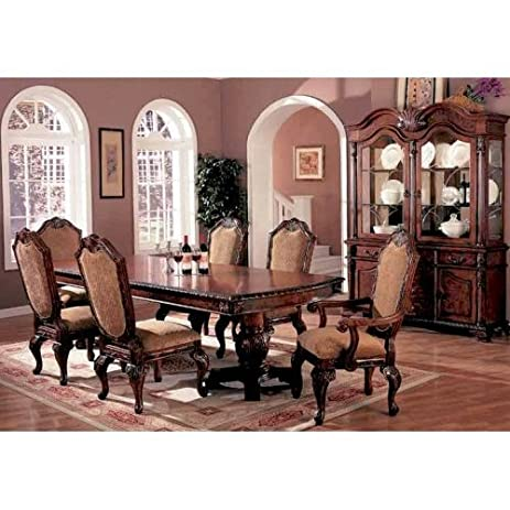 Lovely 7pc Traditional European Style Dining Table U0026 Chairs Set Part 13