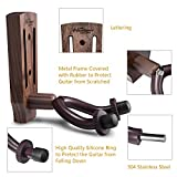 Guitar Wall Mount, Black Walnut Guitar Wall Hanger, Guitar Hook Stand Accessories for Acoustic Electric Bass Ukulele Guitar Holder
