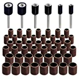 Jumbo 51pc Drum Sanding Kit - Fits Dremel - Includes Rubber Drum Mandrels - 1/2, 3/8 & 1/4''