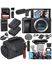 Sony Alpha a6400 Mirrorless Camera Body(No Lens) Video Bundle + Microphone + Extreme Speed 64GB Memory(24pc Bundle) photo